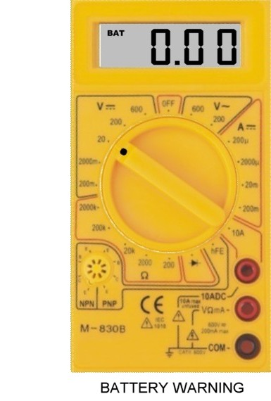 Using The M 830b Digital Multimeter In The Home