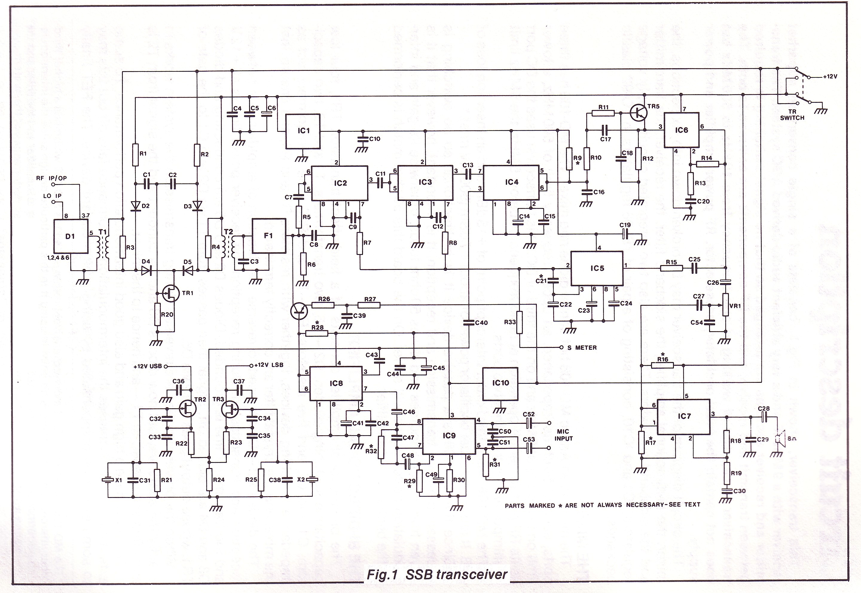 The G4clf Transceiver Board 741 Amplifier Circuit Description